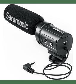 Saramonic SR-M3 Mini micrófono de condensador direccional con montaje de choque integrado