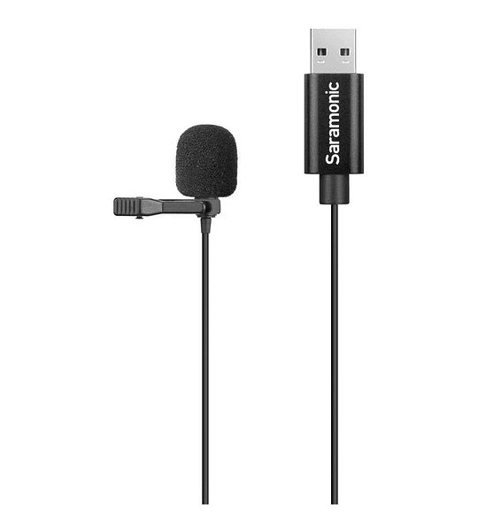 Microfono Saramonic SR-ULM10 USB Omnidireccional Lavalier Cable 2 m