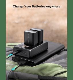 Baterías de litio Ravpower 2-NP-FZ100 con un cargador USB dual
