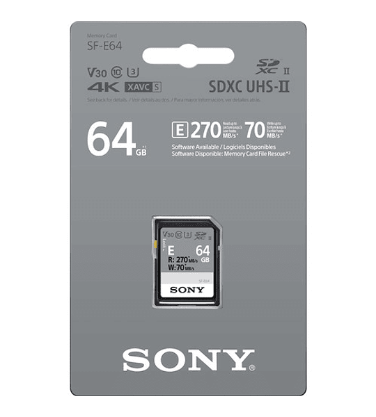 Tarjeta de memoria SD UHS-II Serie SF-E 64GB
