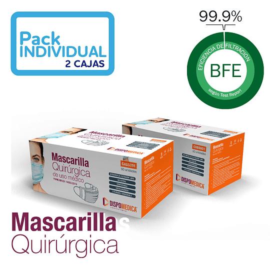 Mascarilla Quirúrgica - 2 cajas