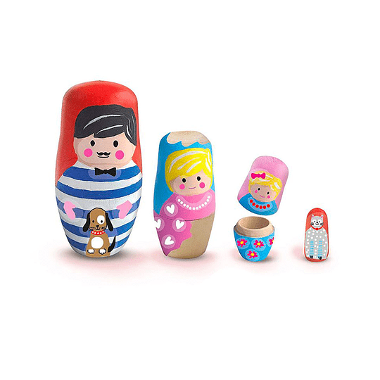 Juego Pintar Muñecas Rusas