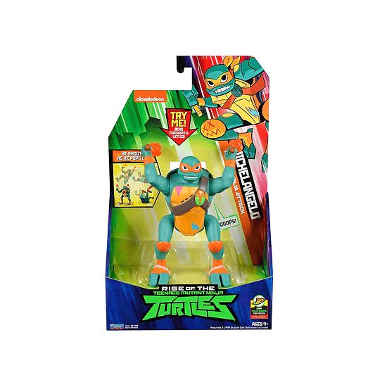Tortuga Ninja Figura Lujo / Michelangelo / 15 cms.