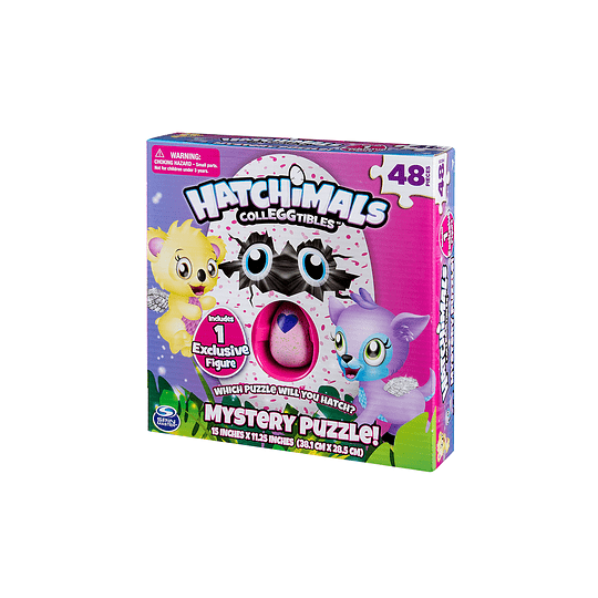 Puzzle Hatchimals 48 piezas + HuevoMisterioso