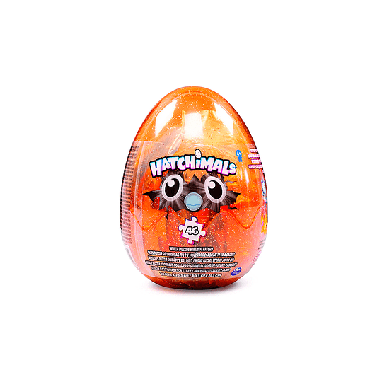 Puzzle Hatchimals 46 piezas. Huevo Transparente Orange