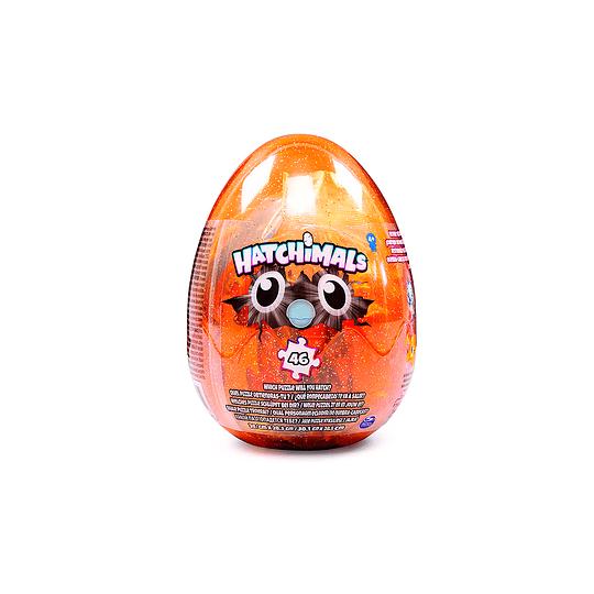 Puzzle Hatchimals 46 piezas. Huevo Transparente Orange