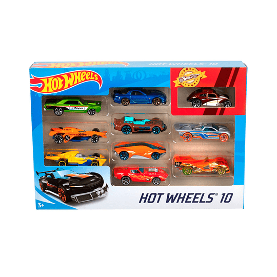 Pack 10 Autos HotWheels