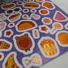 Set 280 Stickers Holográficos A + Papel + Folia