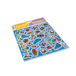 Lámina de Stickers Acción