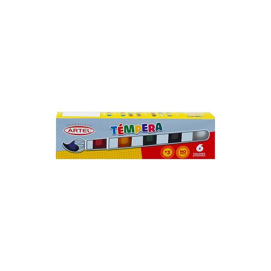 Set Témpera 6 Colores