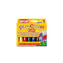 Témpera Sólida 6 Colores