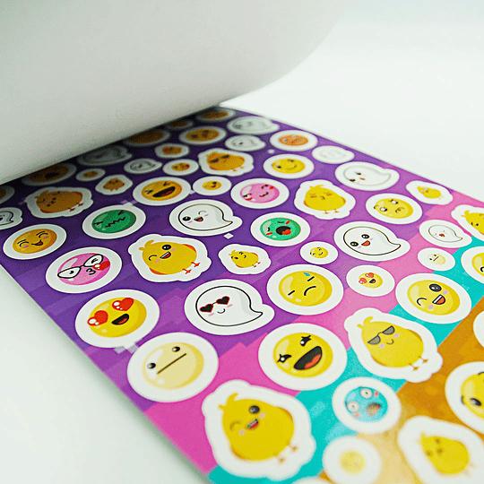 Set 280 Stickers Holográficos B + Papel + Folia