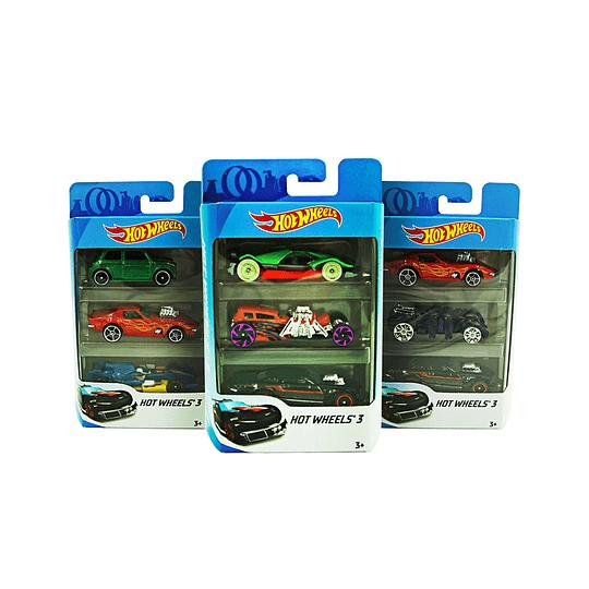 Pack 3 Autos HotWheels