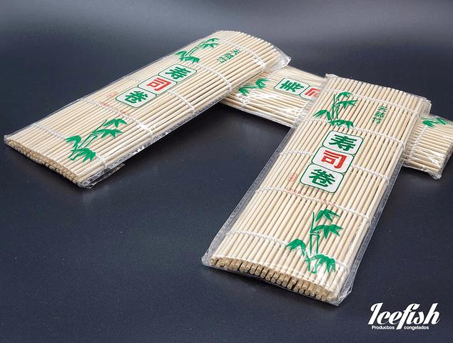 12 Esterillas de Bambu Blanca