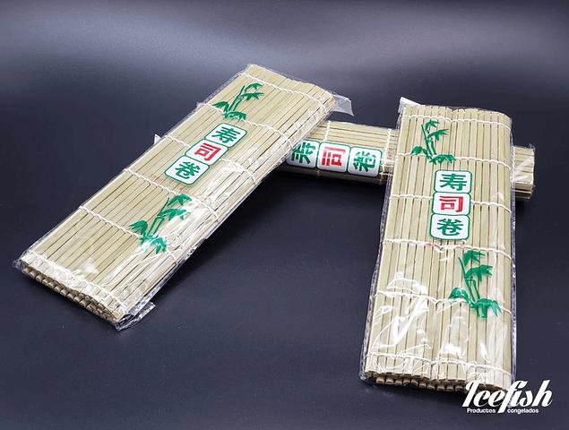 12 Esterillas de Bambu Verde