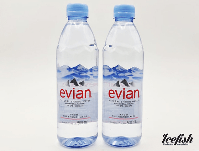 Agua Mineral Evian 24 botellas 500 ml