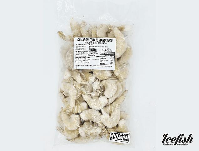 Camarón Crudo con Cáscara 36/40