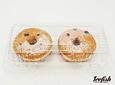 2 Donuts Rellena Choco Avellana
