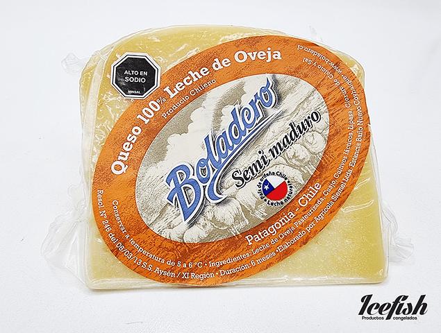 Queso 100 % Leche de Oveja Semi maduro 250 grs.