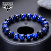 Pulsera con Piedra Natural Ojo de Tigre Azul 8mm