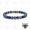 Pulsera Piedra Natural Jaspe Azul Imperial 8mm