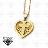 Cadena Acero Corazón Cristo