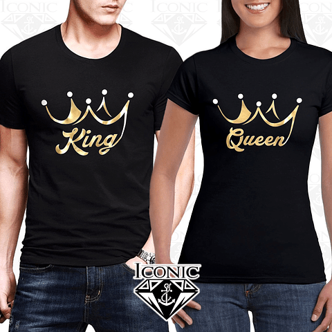 Par de Camisetas King & Queen para Pareja