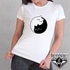 Camiseta Gatos Yin-Yang para Dama