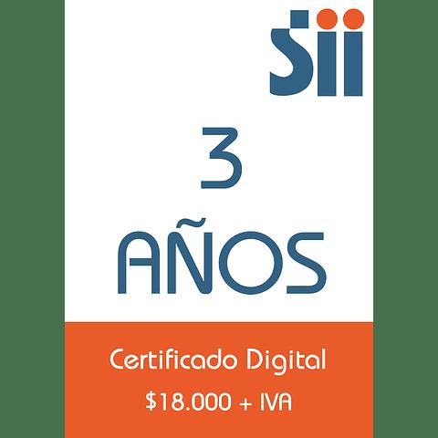 Certificado Digital<br>3 años