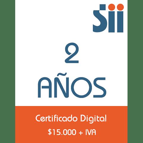 Certificado Digital<br>2 años