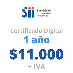 Certificado Digital<br> 1 año