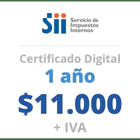 Certificado Digital<br> 1 año