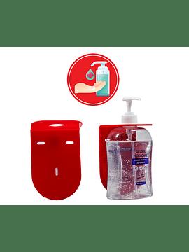 Suporte de Parede para Álcool-Gel 500ml e Autocolante