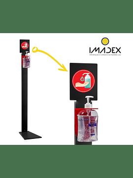 Coluna de Chão com Autocolante para Álcool-Gel 500ml