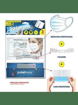 Poketmask Certificada Pack de 3