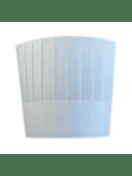 Toucas de Chefe Clássico Ajustável 23cm Branco Pack de 10