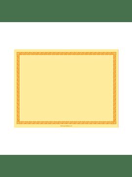 Toalhete de Mesa 60g 60 g/m2 30x40cm Amarelo - 200uni