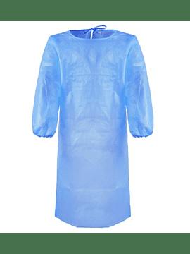 Bata de Proteção Azul - EPI - Pack 100