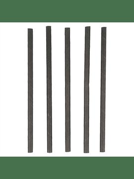 Palhinhas direitas cocktail 0,60x14 cm preto papel cx 250