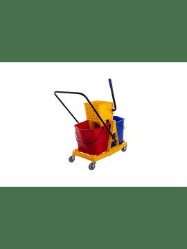 Carro Limpeza c/Prensa 66x34x81 cm 2x 25L