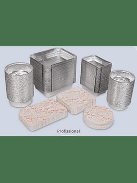 Tampas para Embalagens de Alumínio Circular - Pack de 100