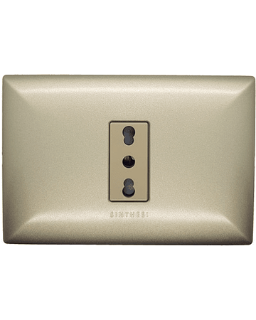 Enchufe Simple 10/16A P/Champagne M/Beige