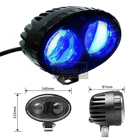LED SEGURIDAD AZUL (BLUE SPOT LIGHT) - GRUA HORQUILLA