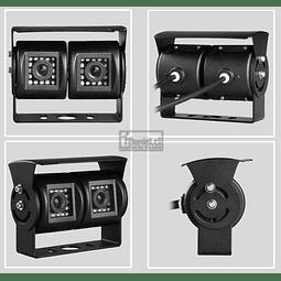 CAMARA RETROCESO DUAL / DOBLE 12 X 2 LED