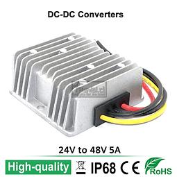 INVERSOR / CONVERTIDOR DC-DC 24V A 48V 5A 240W
