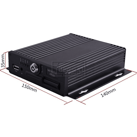 DVR MOVIL 4 CANALES + 64GB + 4PIN A RCA