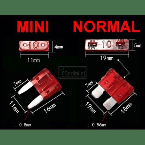 PACK 100 FUSIBLES PARA AUTOMOVILES (MINI O NORMAL)