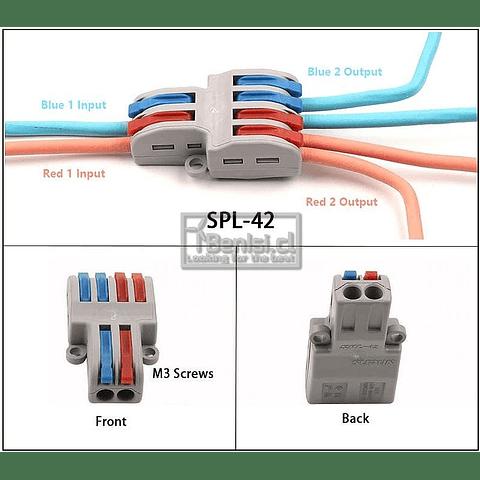 PACK 5 CONECTORES RAPIDOS 2A4