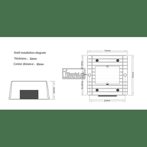 INVERSOR / CONVERTIDOR DC-DC 12V/24V A 36V 6A 216W