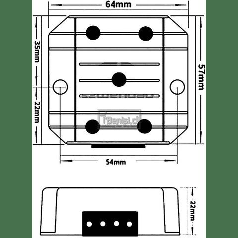 INVERSOR / CONVERTIDOR DC-DC 12V/24V A 5V 10A 50W